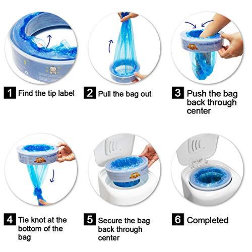 LIONPAPA Diaper Pail Refills for Diaper Genie and Munchkin Diaper Pails 8 pack