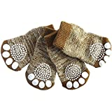Mable Ruth Pet Dog & Puppy Nonslip Socks Comfortable Shoes Boots With Rubber Reinforcement - Set of 4 Breathable Soft, and Nonslip Knit Socks For Dogs - Comfortable Sock Design for Pet Dogs (Medium)
