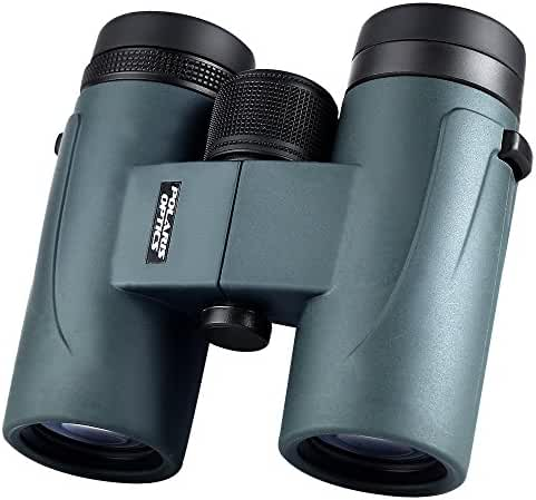 Polaris Optics GoHawk HD 8X32 Compact Binoculars for Bird Watching. Phase Coated. Upgrade Your Outdoor Viewing Experience with Brighter, Crisper, and Clearer Images. Waterproof, Fogproof. Wideview