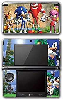 Sonic Boom Hedgehog Tails Amy Rose Knuckles Eggman Shattered Crystal Fire & Ice Robotnik Video Game Vinyl Decal Skin Sticker Cover for Original Nintendo 3DS System by Vinyl Skin Designs