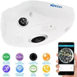 KKmoon 960P HD Wireless Wifi VR IP Camera 360 Degree Full View 1.44MM Lens Fish Eye Panoramic Indoor Security CCTV Camera Support Phone APP Remote Control