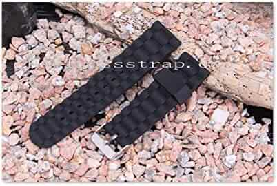 Suunto Core black Silicone Jelly Rubber Unisex Watch Band Straps+Adapter+Buckle lugs