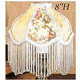 "Meyda Tiffany 25901 Fabric & Fringe Roses Lamp Shade, 6"" Width"