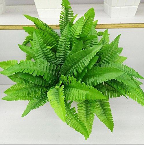 "leoyoubei 4Pcs Artificial Boston Fern Bush Plant 14"" Shrubs Greenery Bushes Indoor Outside Home Garden Office Verandah Wedding Decor"