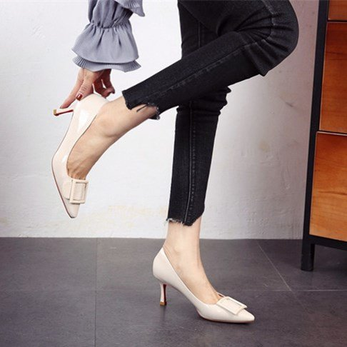 FLYRCX Herbst Frühling und Herbst FLYRCX Damen High Heels mit einem feinem Leder Schuhe Schuhe Schuhe Asakuchi. b d188b8