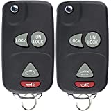 KeylessOption Keyless Entry Remote Fob Car Ignition Key For L2C0007T, Regal, Rendezvous, Aztek, Grand Prix (Pack of 2)