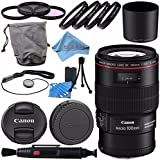 Canon EF 100mm f/2.8L Macro IS USM Lens 3554B002 + 67mm 3pc Filter Kit + 67mm Macro Close Up Kit + Lens Cleaning Kit + Lens Pen Cleaner + Fibercloth Bundle