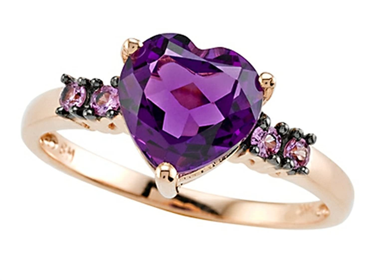 Fine Jewelry Genuine Amethyst and Pink Sapphire Ring N69jYB