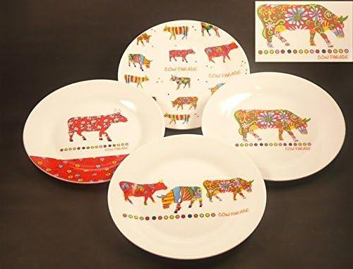 4 Kuchenteller Cow Parade Geschirr Teller Porzellan NEU