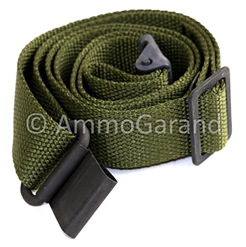 AmmoGarand M1 Garand Two Point Rifle Sling Nylon OD Green - Nylon Rifle Sling
