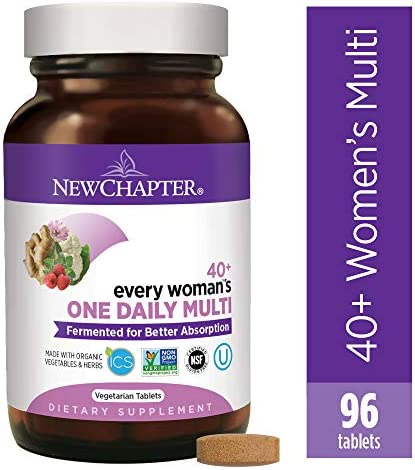 New Chapter Women s Multivitamin, Every Woman s One Daily 40 Fermented with Probiotics Vitamin D3 B Vitamins Organic Non-GMO Ingredients – 96 ct Packaging May Vary