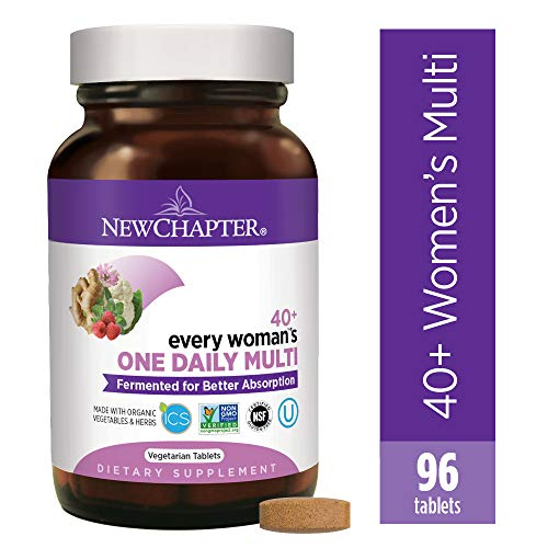 New Chapter Womens Multivitamin, Every Womans One Daily 40+ Fermented with Probiotics + Vitamin D3 + B Vitamins + Organic Non-GMO Ingredients - 96 ct (Packaging May Vary)