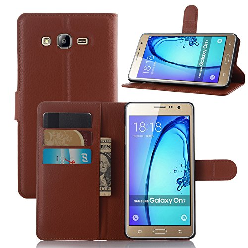 Galaxy J7 Prime Case, Galaxy On7 2016 Case, Starhemei Slim Flip Pu Leather  With Stand [Card Slot],Wallet Phone Case Cover For Samsung Galaxy J7 Prime