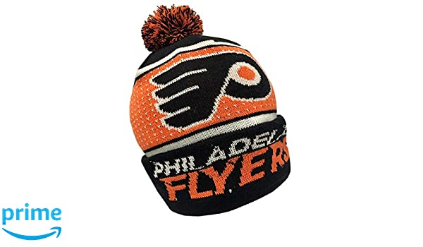 851014d8a83 Amazon.com   Forever Collectibles NHL Philadelphia Flyers Big Logo Knit  Light Up Beanie Hat   Sports   Outdoors