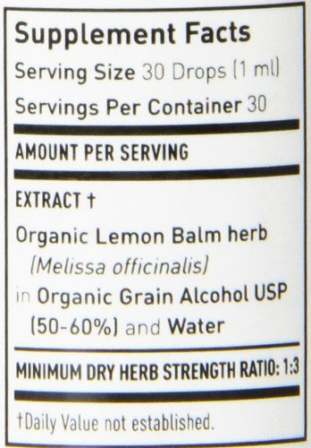 Gaia Herbs Lemon Balm Herb, Liquid Supplement, 1 Ounce (Pack of 2) - Supports Nervous System, Immune System & Digestive System by Gaia Herbs (Image #1)