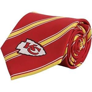 Amazon.com : NFL Kansas City Chiefs Red Striped Woven Tie ...
