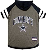 NFL DALLAS COWBOYS HOODIE for DOGS & CATS. | NFL FOOTBALL licensed DOG HOODY Tee Shirt, Small| Sports HOODY T-Shirt for Pets | Licensed Sporty Dog Shirt.