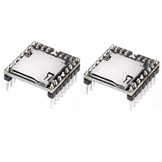 HiLetgo 2pcs Arduino mp3 Player Mini MP3 Player Audio Voice Module TF Card U Disk Board DFPlayer Audio Voice Music Module