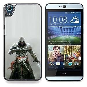 """Qstar Arte & diseño plástico duro Fundas Cover Cubre Hard Case Cover para HTC Desire 826 (Asesinos Samurai"""")"""