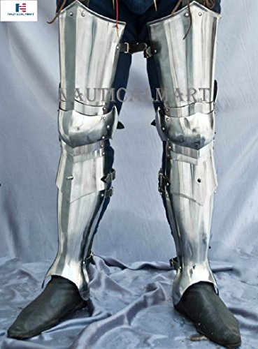 NAUTICALMART Medieval Steel Knight Full Leg Armor Costume