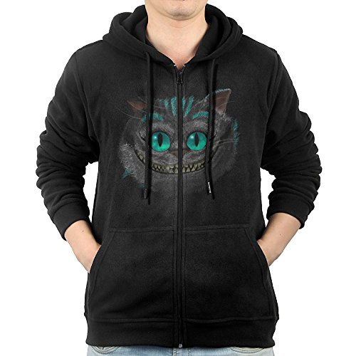 Jovovich Milla Alice Costume (Celets Cheshire Cat Smile Face Men's Custom Long Sleeve Zipper Hoodie S)