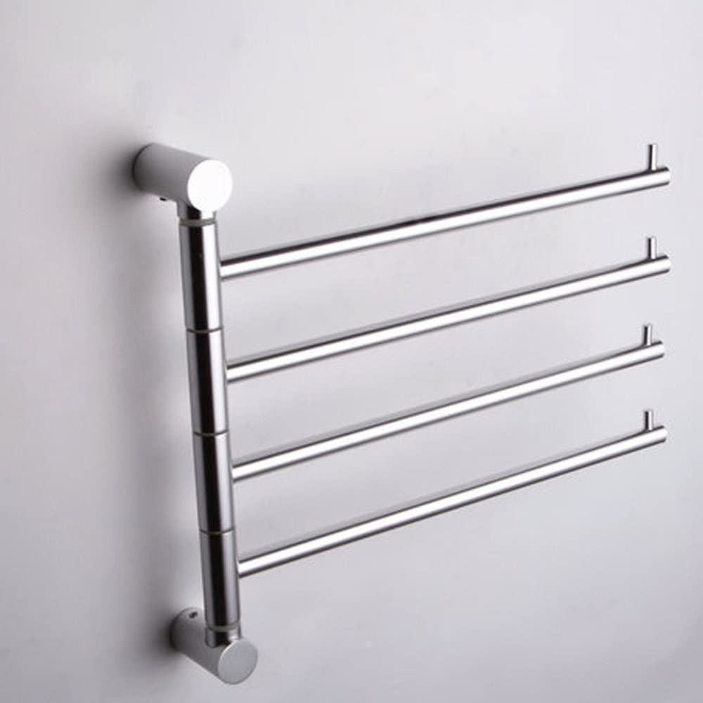 Espacio de aluminio toallero giratorio desplazable multipunto toallas Toalleros: Amazon.es: Hogar