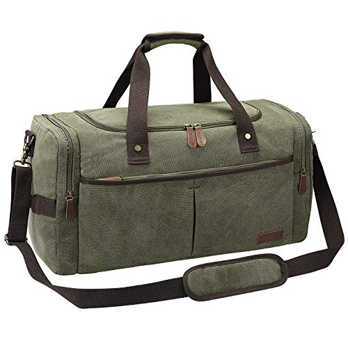91763c22d7 S-ZONE Travel Canvas Duffel Bag for Men   Women 30L Overnight Luggage Tote  Weekend