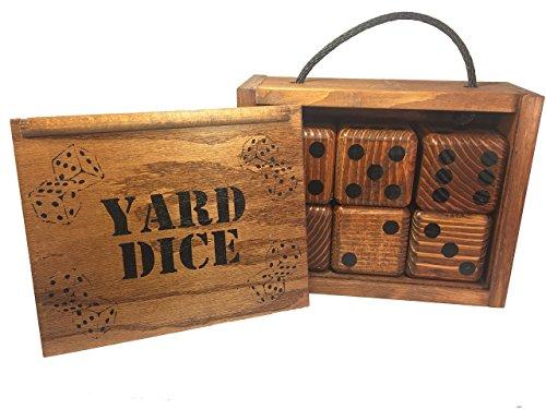 yard-dice-set-with-8-player-yardzee-dry-erase-score-sheet-6-giant-wood-lawn-dice-great-family-yard-g