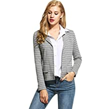 ANGVNS Womens Blazer Long Sleeve Casual Work Office Open Front Women Jackets