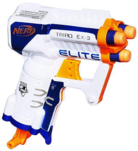 NERF TRIAD EX-3 Pistol N-Strike Elite Series mini micro Blaster gun 3 Darts NEW For Ages (Proof Ex Set)
