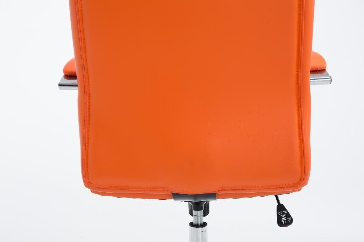 Rembourr/ée avec Rev/êtement en Similicuir CLP Fauteuil de Bureau Ergonomique MIKOS Couleurs au Choix : Orange Chaise de Bureau /à Roulette R/églable en Hauteur et Pivotante avec Accoudoirs