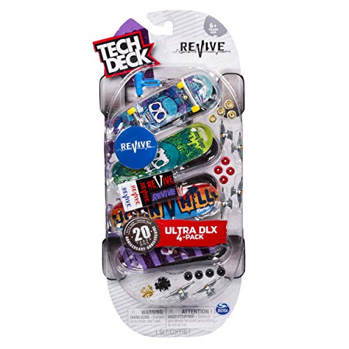 Tech Deck Ultra DLX 4 Pack 96mm Fingerboards - Revive 20th Anniversary Special Edition ()