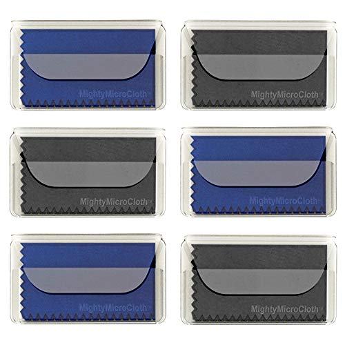 MightyMicroCloth Microfiber Eyeglass Cleaning Cloths - Travel Pouch - Lens Cleaner for Glasses, Camera Lenses, Tablets, Phones, Screens, Electronics