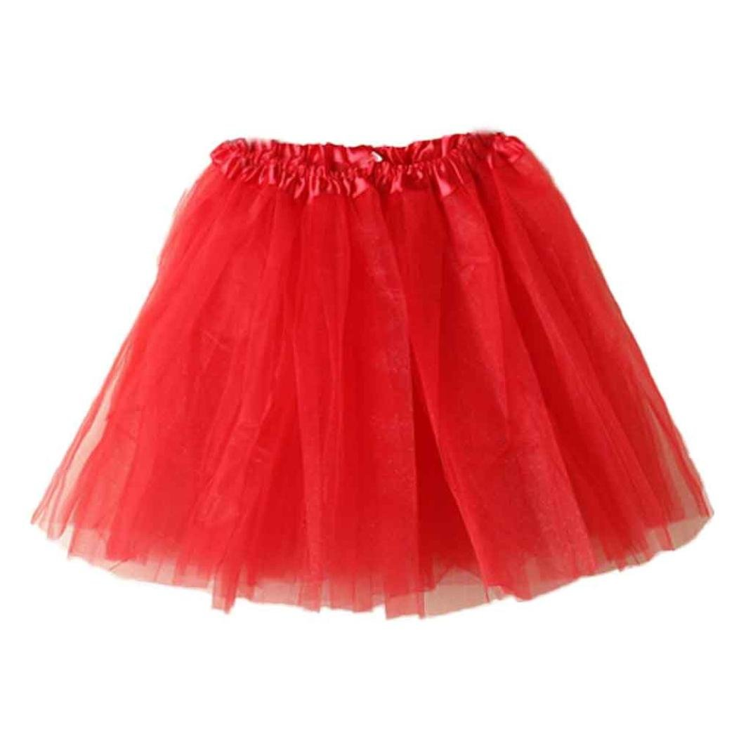 LNGRY Women Girls Lace Ballet Tutu Mini Skirt Layered Organza Skirt, Multicolor Multicolor (Blue)