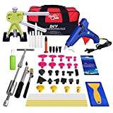 Super PDR 47Pcs Paintless Dent Remover Tools Dent Puller Auto body Repair Hail Damage And Door Dings Removal Kit Set 2 In 1 Slide Hammer With Bag