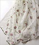 Better Homes & Gardens Vintage Rose Embroidered Cottage Chic Kitchen Curtain Tier & Valance Set