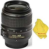 Nikon 18-55mm f/3.5-5.6G ED II Auto Focus-S DX (White Box) + MEGAACC Microfiber Cloth