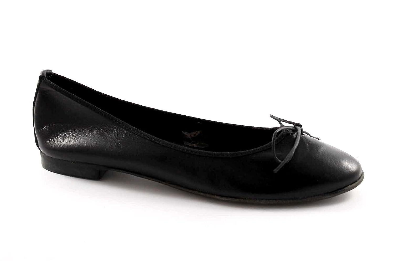 61ceb746794d29 gemma E500SFP Chaussures en Cuir Noir pour Les Femmes Ballerines Arc Fait  en Italie
