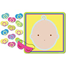 """Beistle 66675 Pin The Pacifier Baby Shower Game, 17"""" x 18.5"""""""