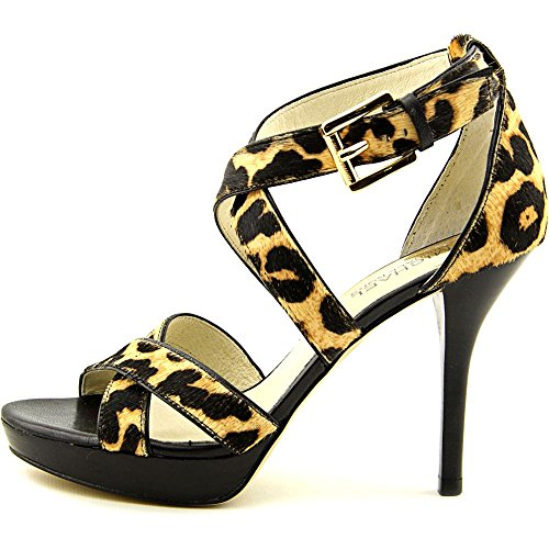 Michael Michael Kors Evie Calf-Hair Sandal Femmes US 6 Brun Sandales