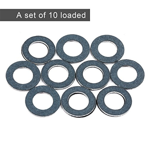 Oil Drain Plug Washer Gasket , 90430-12031,10PCS /Set Gaskets Rings for Toyota, Crush Washer Engine Gaskets for Lexus Replacement Toyota Plug