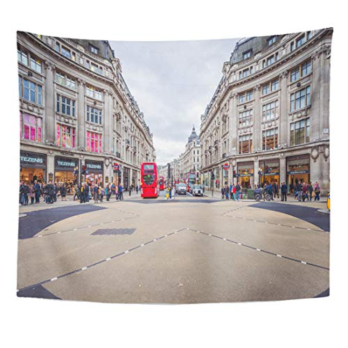 - Semtomn Tapestry Red London Nov 09 View of Oxford Street Home Decor Wall Hanging for Living Room Bedroom Dorm 60x80 Inches