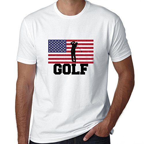 Hollywood Thread USA Olympic - Golf - Flag - Silhouette Men's - Olympics Usa Team Apparel Golf