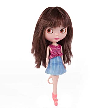 Alert Free Shipping Top Discount 4 Colors Big Eyes Diy Nude Blyth Doll Item No 23 Doll Limited Gift Special Price Cheap Offer Toy Action & Toy Figures