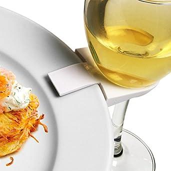 drinkstuff - Clips para sujetar platos a la copa de vino (4 unidades, ideal
