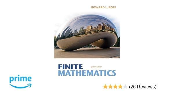 Finite mathematics howard l rolf 9781133945772 amazon books fandeluxe Choice Image