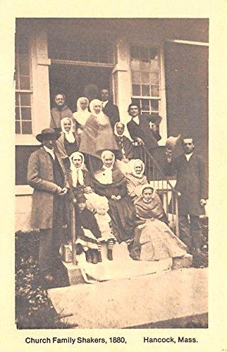 - Church Family Reproduction of 1880 image Hancock, Massachusetts Mass USA Shaker Postcard