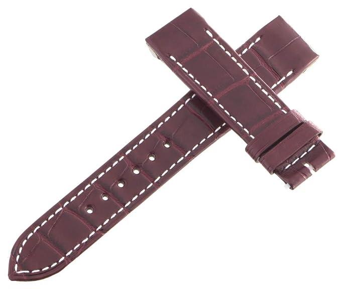Jaeger LeCoultre Reverso OEM marrón piel de cocodrilo correa de reloj banda 18 mm x 16