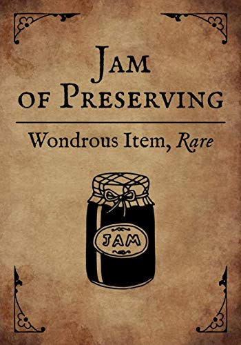 RPG Journal: Blank college ruled notebook for role playing gamers: Wondrous Item: Jam of Preserving