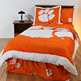 Clemson Tigers Bed in a Bag King - With White Sheets